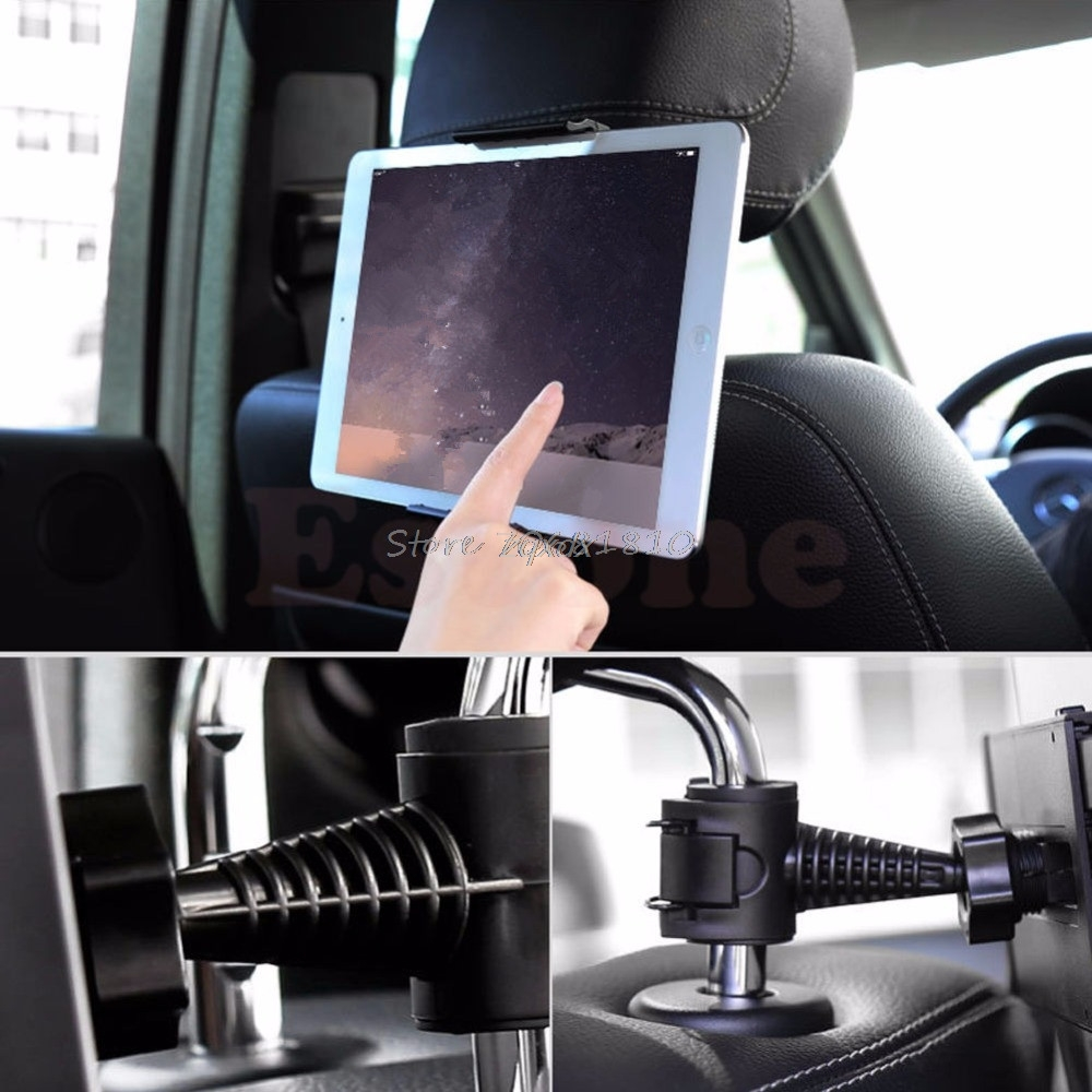 Universal Car Seat Headrest Mount Holder for New iPad 1//2//3//4 mini Tablet Galaxy